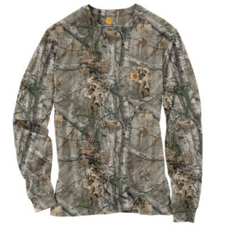 Carhartt Men's Work Camo Long Sleeve T Shirt