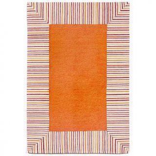 "Liora Manne 42"" x 66"" Ravella Pin Stripe Rug   Orange   7803802"