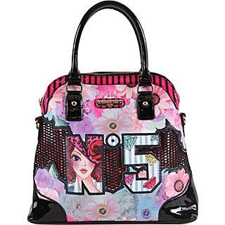 Nicole Lee No.5 Print Satchel Bag