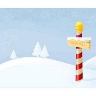 Westcott Scenic Background (6x8, North Pole) 931