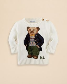 Ralph Lauren Childrenswear Infant Boys' Combed Cotton Bear Sweater   Sizes 3 9 Months