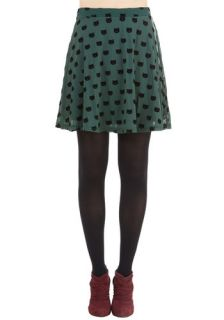 Miss Whiskers Skirt in Forest  Mod Retro Vintage Skirts