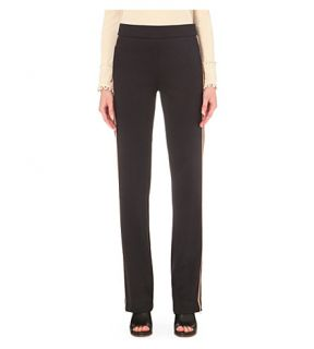 SEE BY CHLOE   Contrast stripe slim fit cotton blend trousers