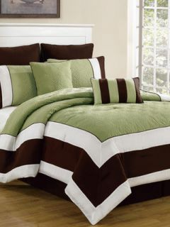Spain Hotel Quilted Comforter Set by Duck River