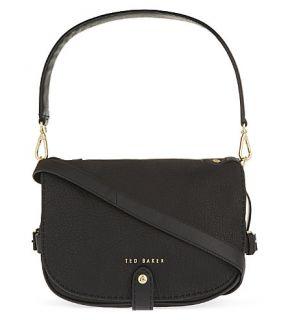 TED BAKER   Stab stitch leather saddle bag