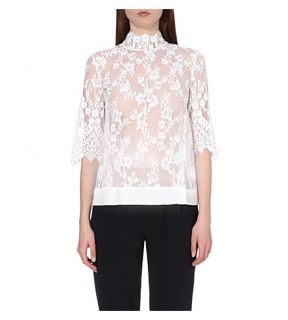 CLAUDIE PIERLOT   Birthday lace embroidered tulle top