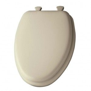 Mayfair 113EC 006 Toilet Seat, Elongated Closed Front Cushioned w/o Wobble Hinges   Bone