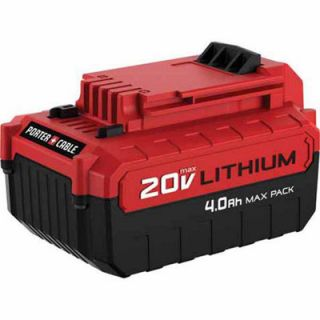 Porter Cable 20V Max Lithium Ion 4.0 Amp Hour MAX PACK Battery