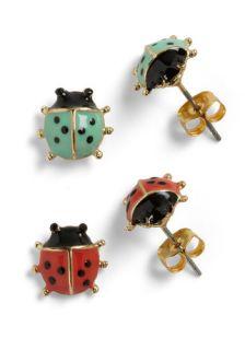Lord and Ladybug Earrings  Mod Retro Vintage Earrings