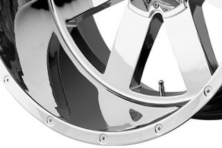 "Moto Metal MO96281086224N   5 x 5.5"" Bolt Pattern Chrome 18"" x 10"" MO962 Chrome Wheels   Alloy Wheels & Rims"