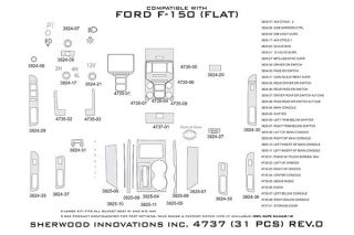 2013 Ford F 150 Wood Dash Kits   Sherwood Innovations 4737 AD   Sherwood Innovations Dash Kits