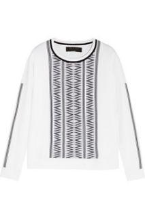 Erin embroidered stretch jersey sweater  Rag & bone