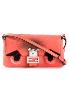 Fendi Micro 'monster Baguette' Shoulder Bag   Stefania Mode