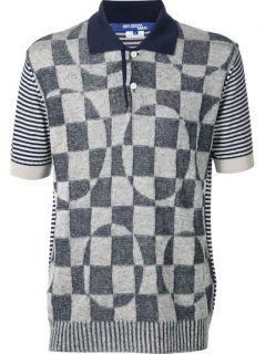 Junya Watanabe Comme Des Garçons Man Patch Polo Shirt   Kasuri