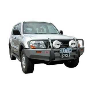ARB 4x4 Accessories   ARB 4x4 Accessories Front Deluxe Bull Bar Winch Mount Bumper (Black) 3434060   Fits 2003 to 2006 Mitsubishi Montero NP