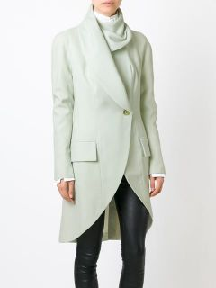 John Galliano Vintage Single Button Fold Over Coat   House Of Liza