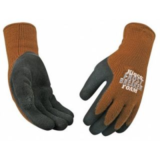 Kinco Frost Breaker Work Gloves, Thermal, Latex Palm, Brown Knit, Large: Model# 1787 L