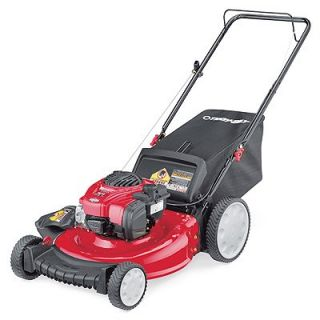 Troy Bilt 3 In 1 Gas Push Lawn Mower, High Wheel, 140cc Engine, 21 In.: Model# 11A B2BM766