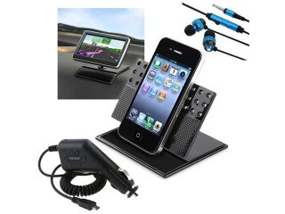 Charger+Car Mount+Headset compatible with HTC Sensation 4G T Mobile