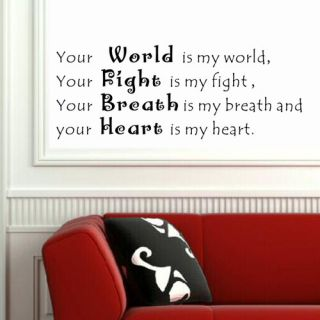 Pop Decors Your World Is My World Wall Decal