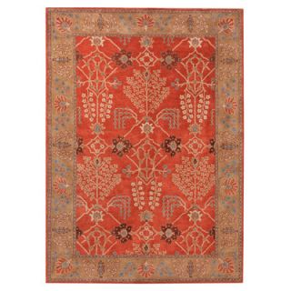 Poeme Chambery Orange Rust & Gold Brown Area Rug by Jaipur Rugs