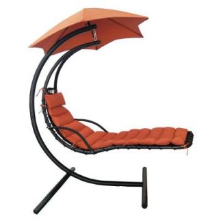 Blue Wave Island Retreat Hanging Terra Cotta Patio Lounge with Shade Canopy NU3220