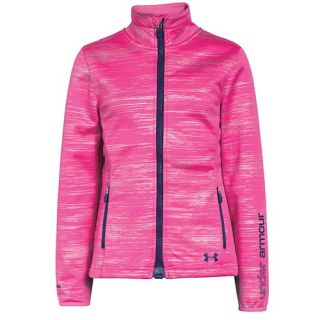 Under Armour ColdGear Infrared Softershell Jacket   Girls Grade School   Casual   Clothing   Rebel Pink Shimmer/Europa Purple