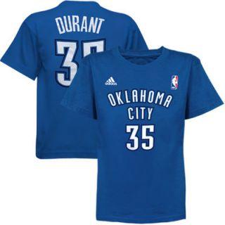 adidas Kevin Durant Oklahoma City Thunder Preschool Name and Number T Shirt   Light Blue