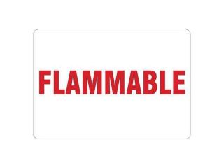 CONDOR Y4035195 Safety Sign, Flammable, Self Adhesive