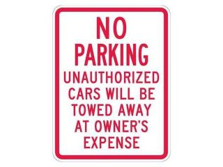 LYLE T1 1047 EG_18x24 Sign, No Parking, 24 x18 In