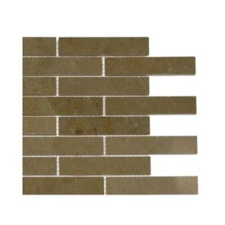 Splashback Tile Jer Gold Piano Brick Polished Natural Stone Floor and Wall Tile   6 in. x 6 in. Tile Sample L4A7 STONE TILE