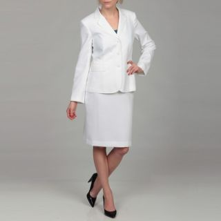 Emily Womens White Four button Skirt Suit   Shopping   Top