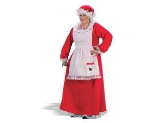 FunWorld 133352 Mrs. Claus Adult Plus Costume   Red