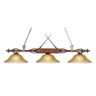 Radionic Hi Tech Alafan 3 Light Tiffany Bronze Island Light BIL_194 WD G6 LED_RHT