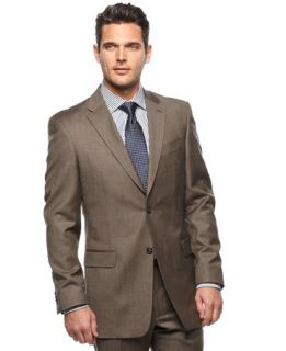 Tommy Hilfiger Taupe Sharkskin Slim Fit Jacket   Suits & Suit
