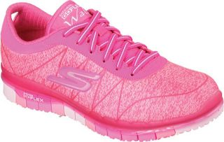 Womens Skechers GO FLEX Walk Ability Sneaker   Hot Pink
