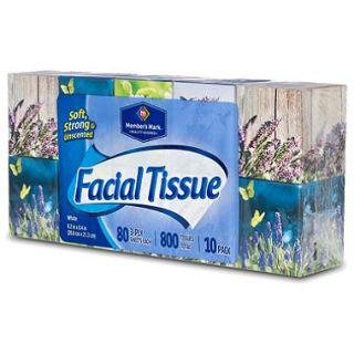 Members Mark Facial Tissue   10 boxes   80 ct. each