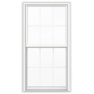 JELD WEN V2500 Vinyl Double Pane Double Strength New Construction Double Hung Window (Rough Opening: 32 in x 60 in Actual: 31.5 in x 59.5 in)