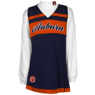Auburn Tigers Girls Youth Cheer Jumper Dress and Turtleneck Set   Navy Blue