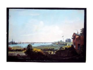 View of the City of New York and the Marine Hospital Taken from Wallabout Poster Print by Nicolino Calyo (American (born