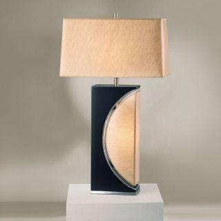 Nova Half Moon 30 H Table Lamp with Rectangular Shade