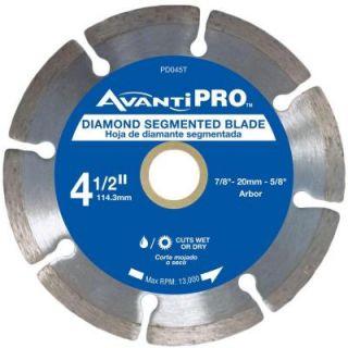 Avanti Pro 4.5 in. Segmented Diamond Blade HD S45S8
