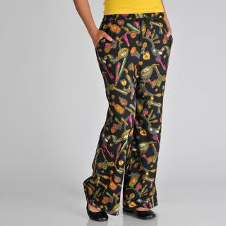 Pink Collection Womens Drawstring Printed Pant