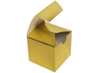 JAM Paper®   2x2x2 Gold Metallic Foil Gift Boxes  sold individually