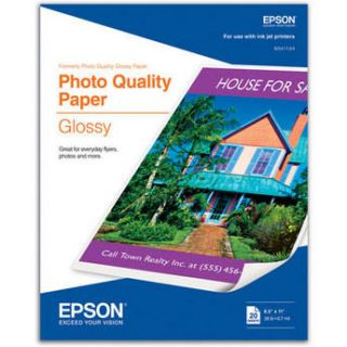 "Epson Photo Quality Glossy Paper   8.5x11""   20 S041124"