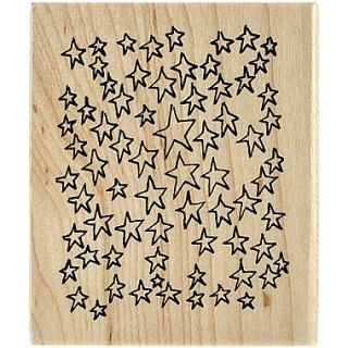 Ranger Dyan Reaveleys 3 x 3 1/2 Dylusions Mounted Wood Stamp, Amongst The Stars