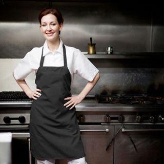 American Dawn Professional Chefs Bib Apron, Black (6 pk.)