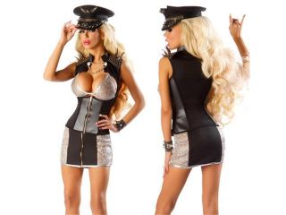 Totoer Women's Sexy Police Costume, Dirty Cop Officer Anita Bribe