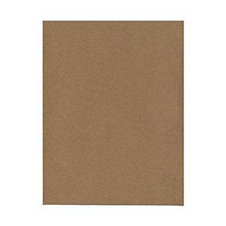 JAM Paper Matte Cardstock, 8.5 x 11, 65lb Brown Kraft 100% Recycled Paper Bag, 50/pack (LEKR120606)