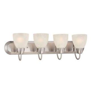 Designers Fountain Torino 4 Light Brushed Nickel Bath Bar Light 15005 4B 35